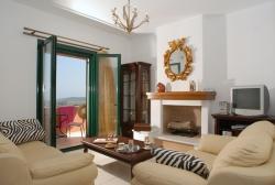 Wohnzimmer oben - Korfu Villa Mare e Monti, Almiros, KorfuCorfu.de