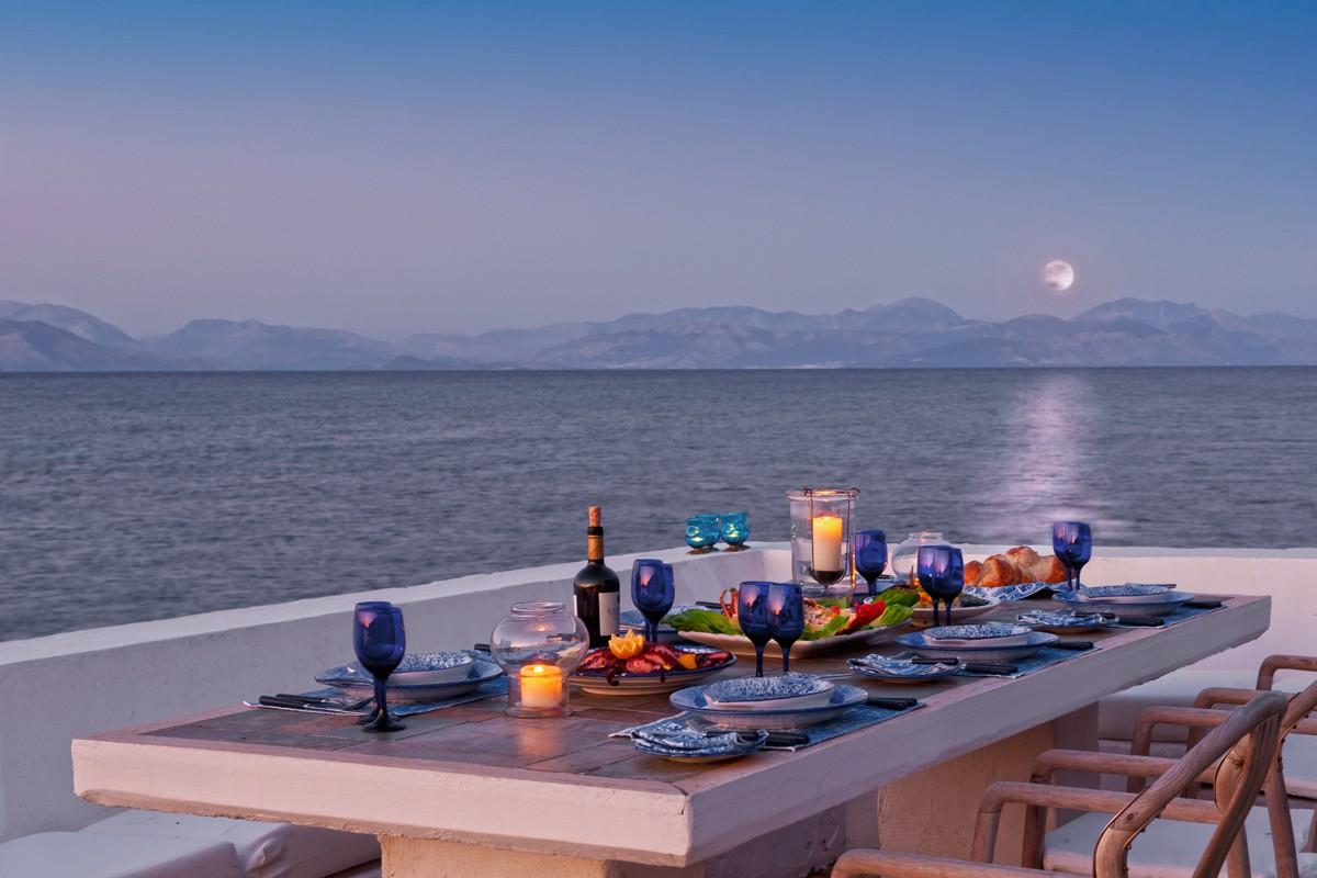 Abendstimmung - Korfu Luxusresort Villen Aphrodite, Agia Pelagia, Korfu