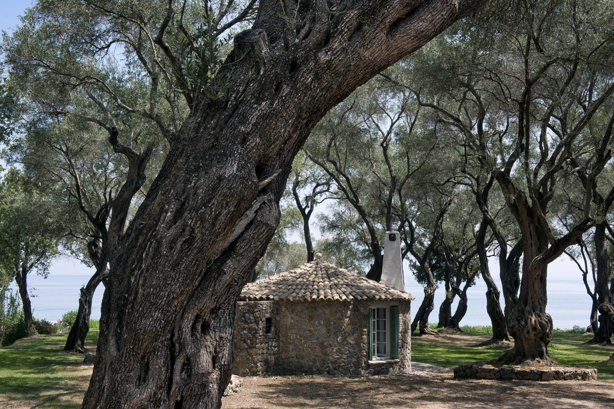Rundhaus aussen - Korfu Luxusresort Villen Aphrodite, Agia Pelagia, Korfu