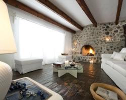 Olivenhain Wohnzimmer - Korfu Luxusresort Villen Aphrodite, Agia Pelagia, Korfu