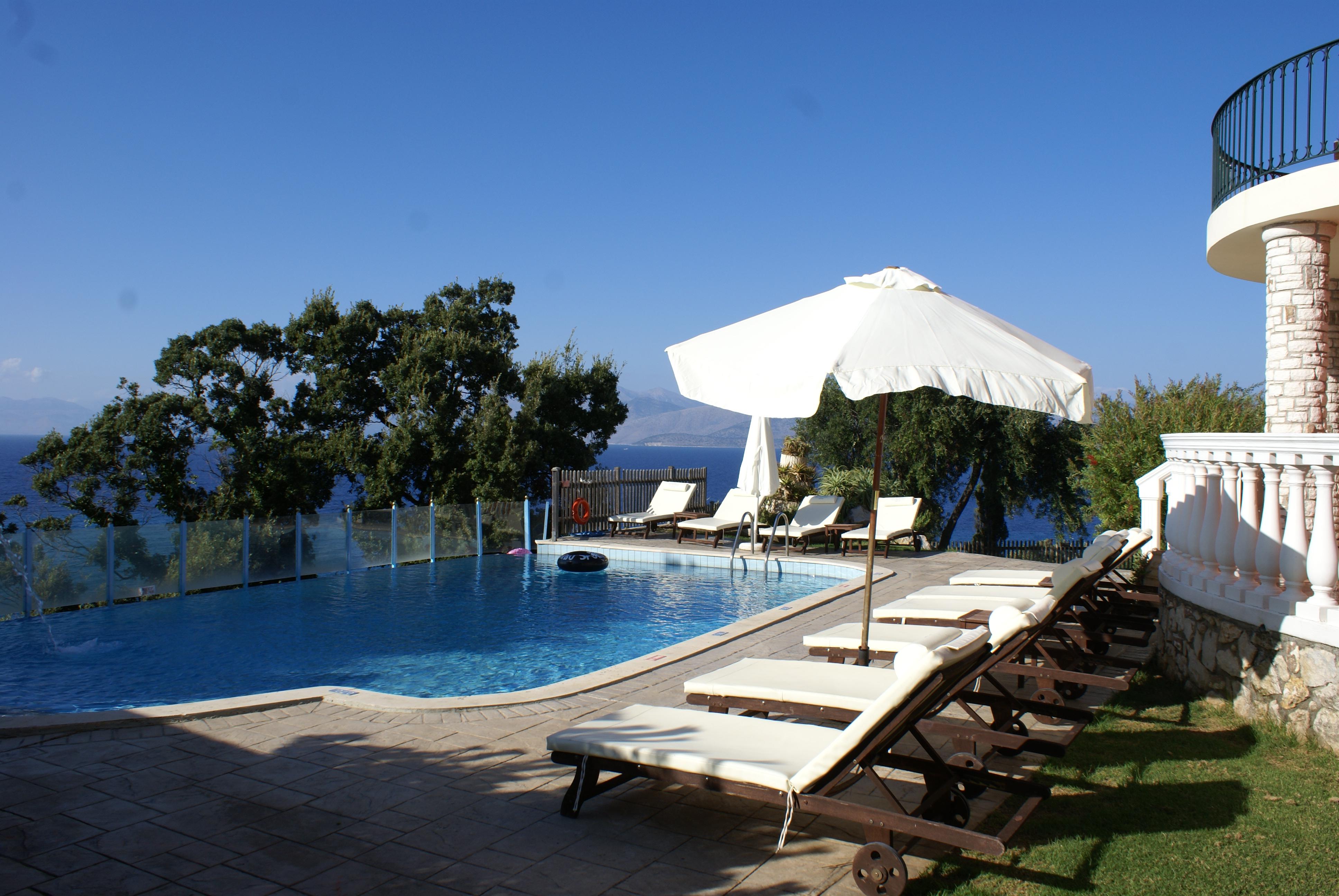 Pool - Korfu Villa Sankt Nikolas Strandhaus, Agios Spiridon, KorfuCorfu