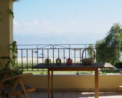 Meerblick vom Balkon - Korfu Strandvilla Villa Meer, Kalamaki, KorfuCorfu