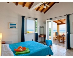 Schlafzimmer oben - Korfu Strandvilla Villa Meer, Kalamaki, KorfuCorfu