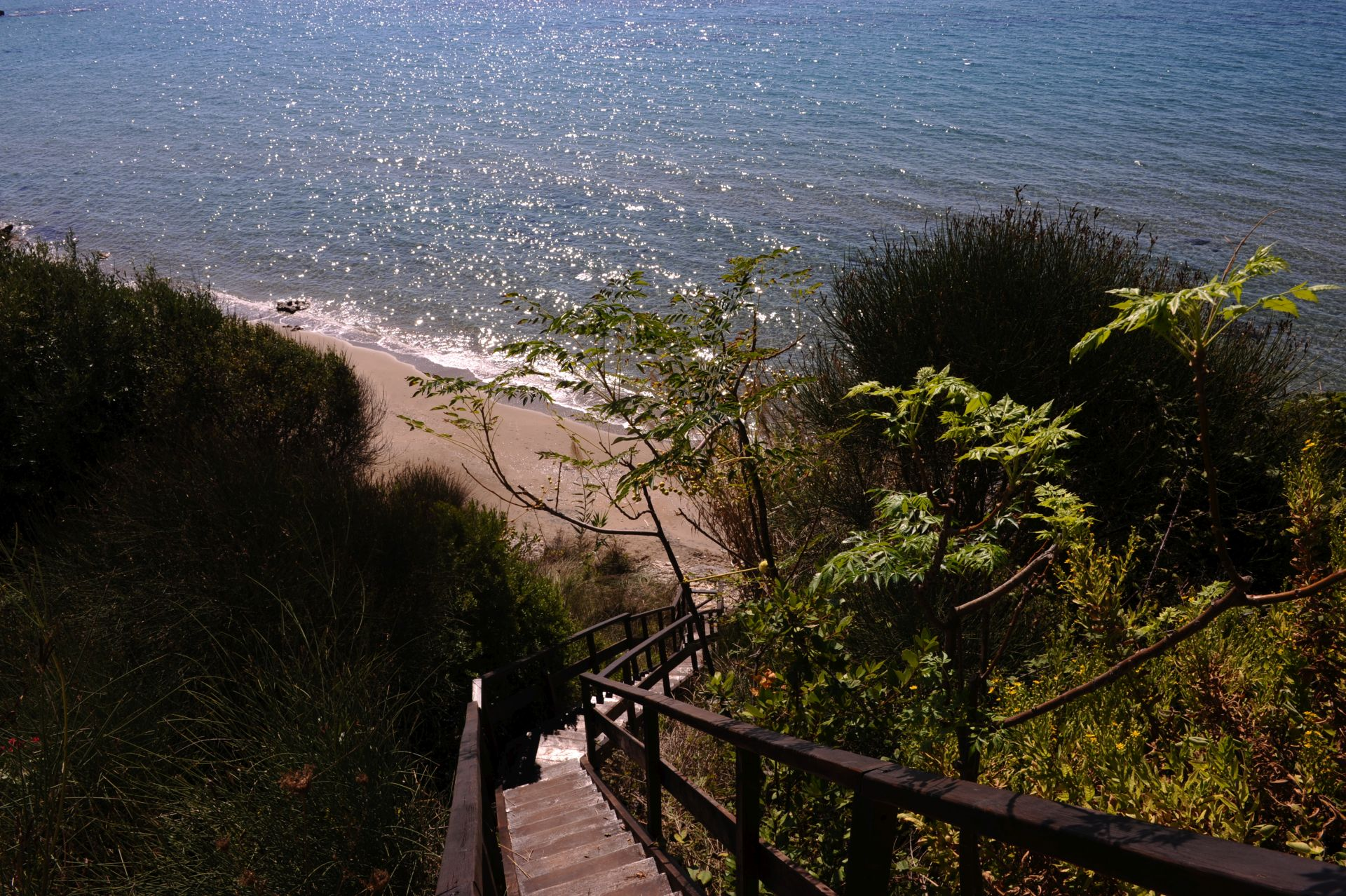 Privatstrand - Korfu Strandvilla Meliti, Kanouli, Agios Matheos, Korfu, KorfuCorfu