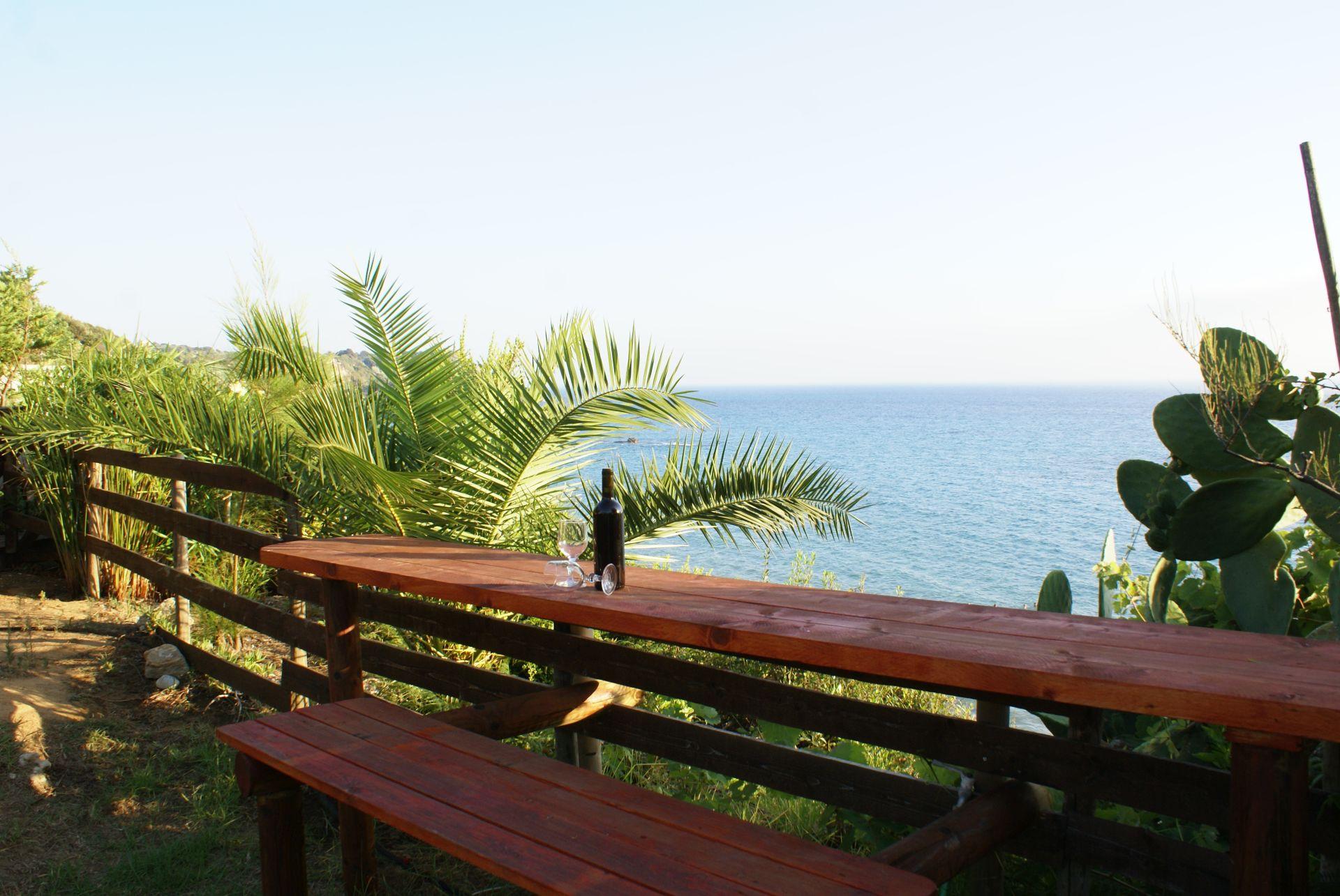Blick nach Süden - Korfu Strandvilla Meliti, Kanouli, Agios Matheos, Korfu, KorfuCorfu