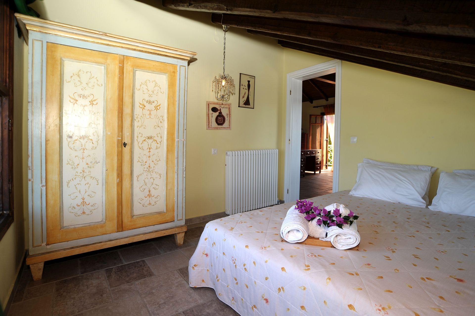 Schlafzimmer 2 oben - Korfu Strandvilla Meliti, Kanouli, Agios Matheos, Korfu, KorfuCorfu