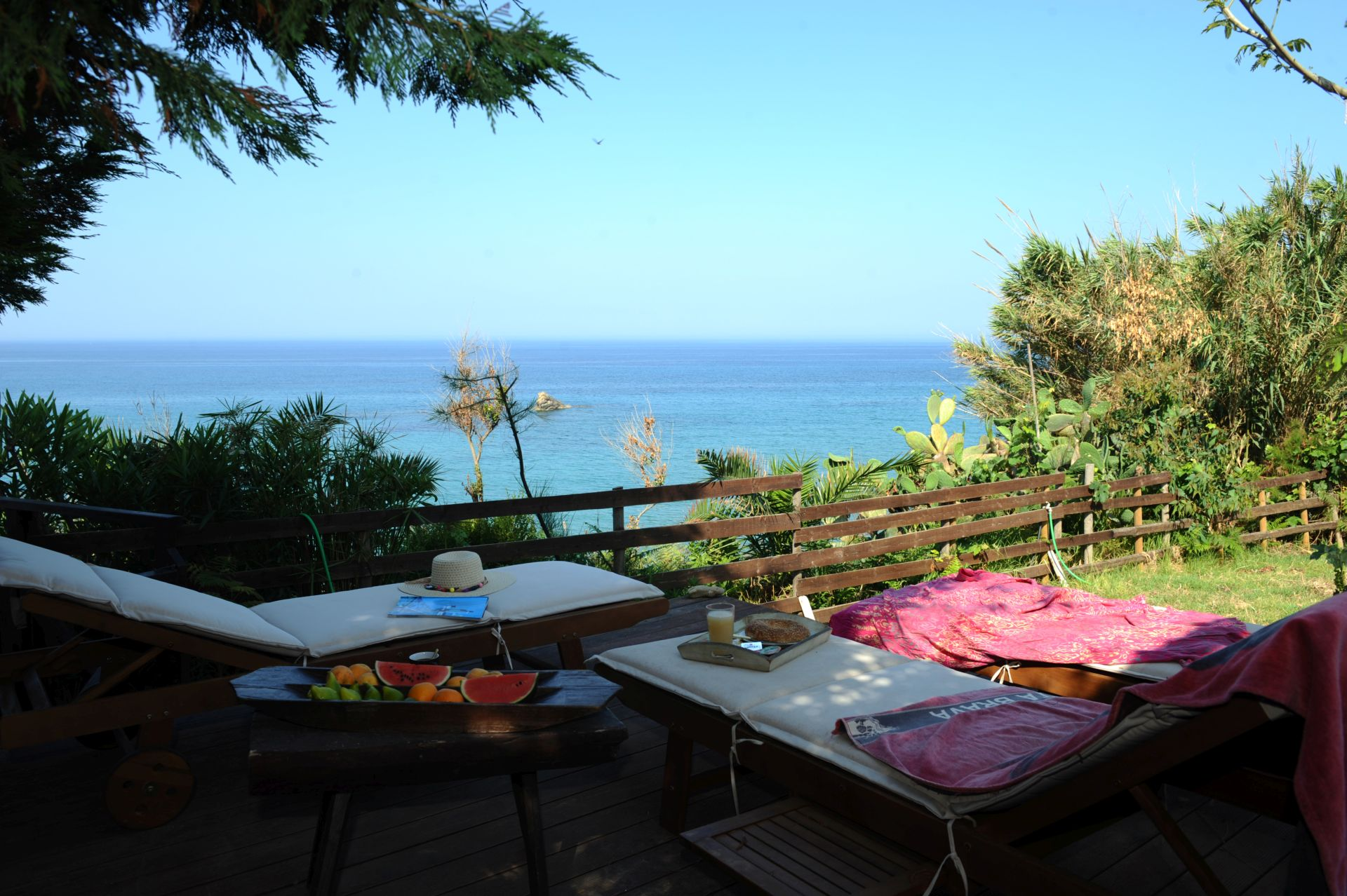Sonnenbaden - Korfu Strandvilla Meliti, Kanouli, Agios Matheos, Korfu, KorfuCorfu