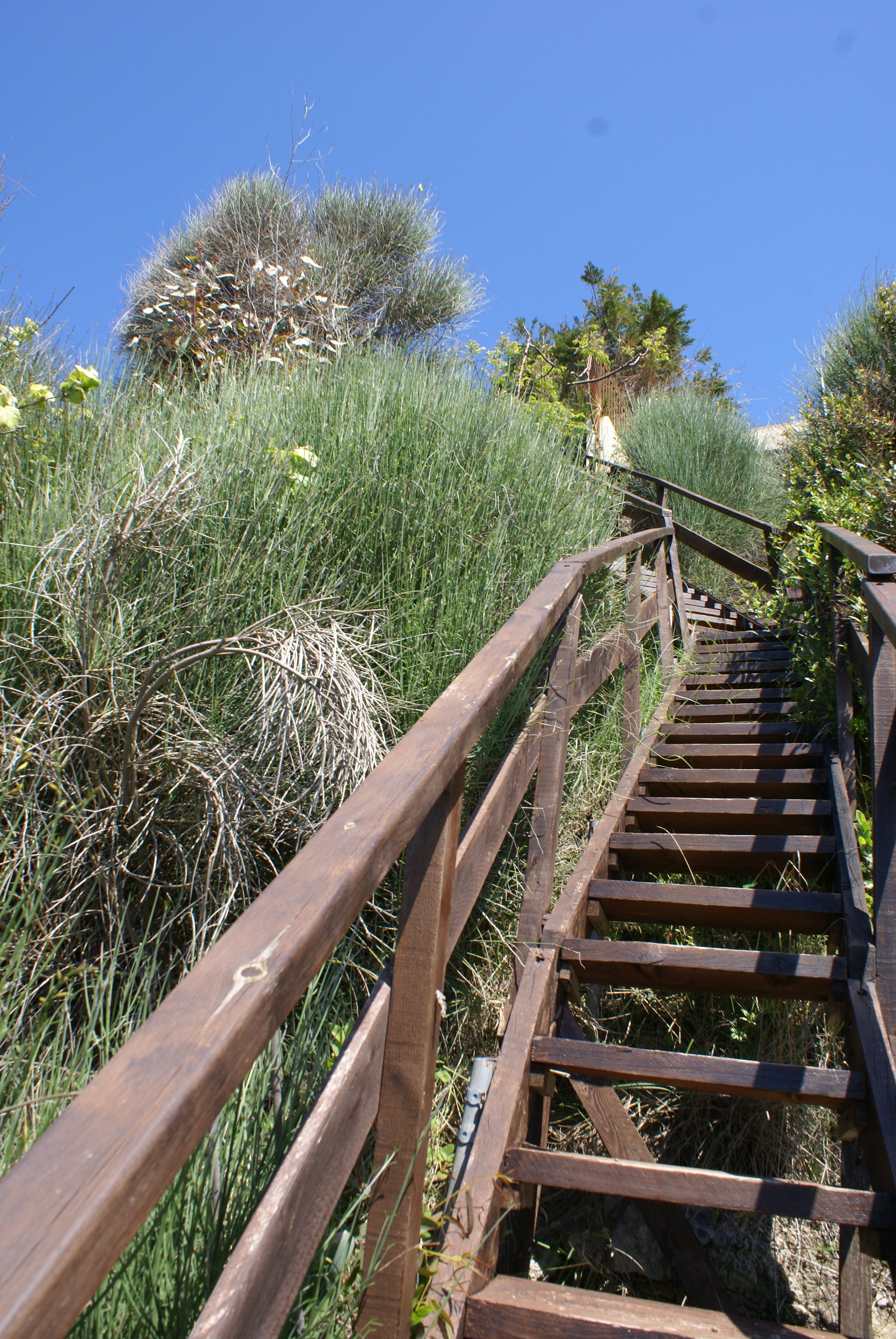 Treppenaufgang vom Strand - Korfu Strandvilla Meliti, Kanouli, Agios Matheos, Korfu, KorfuCorfu