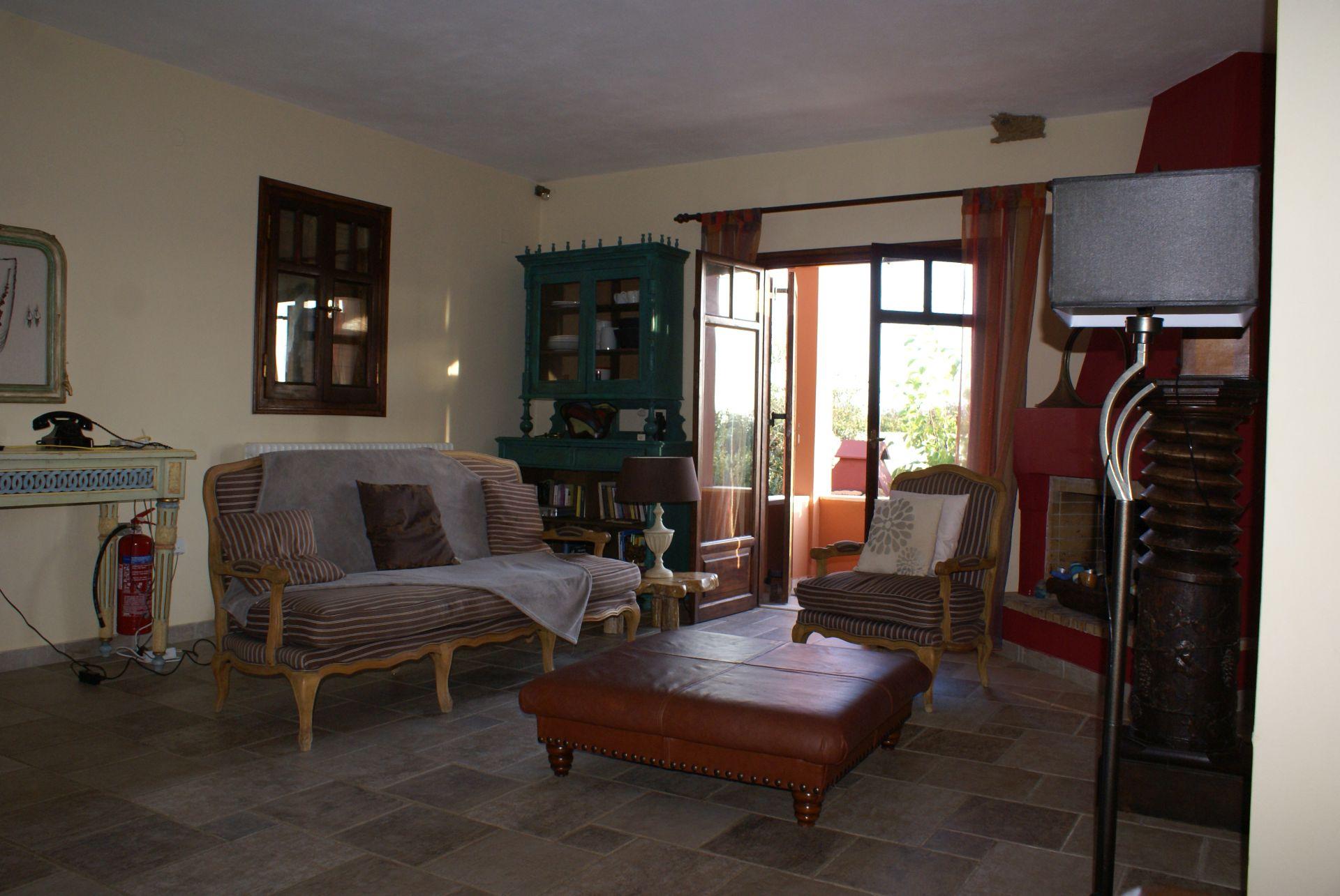 Wohnzimmer - Korfu Strandvilla Meliti, Kanouli, Agios Matheos, Korfu, KorfuCorfu