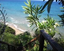 Treppe zum Strand - Korfu Strandvilla Meliti, Kanouli, Agios Matheos, Korfu, KorfuCorfu