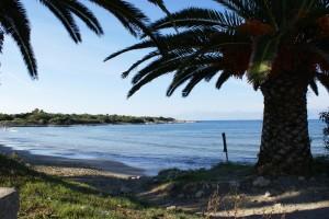 Strand von Agios Spiridon, in der Nähe der Korfu Luxusvilla Villa Steilküste, KorfuCorfu.de