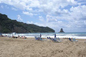Strand von Agios Gordis, Korfu Luxusvilla Villa Chloe, Souleika - südlich von Korfu Stadt, Korfu, Griechenland, KorfuCorfu.de