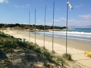 Strand von Agios Spiridon, Korfu, Griechenland, Korfu Ferienwohnung Villa Kostas, KorfuCorfu.de