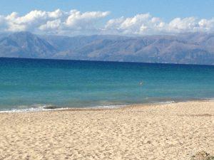 Strand von Almiros, Korfu, Griechenland, Korfu Ferienwohnung Villa Kostas, KorfuCorfu.de