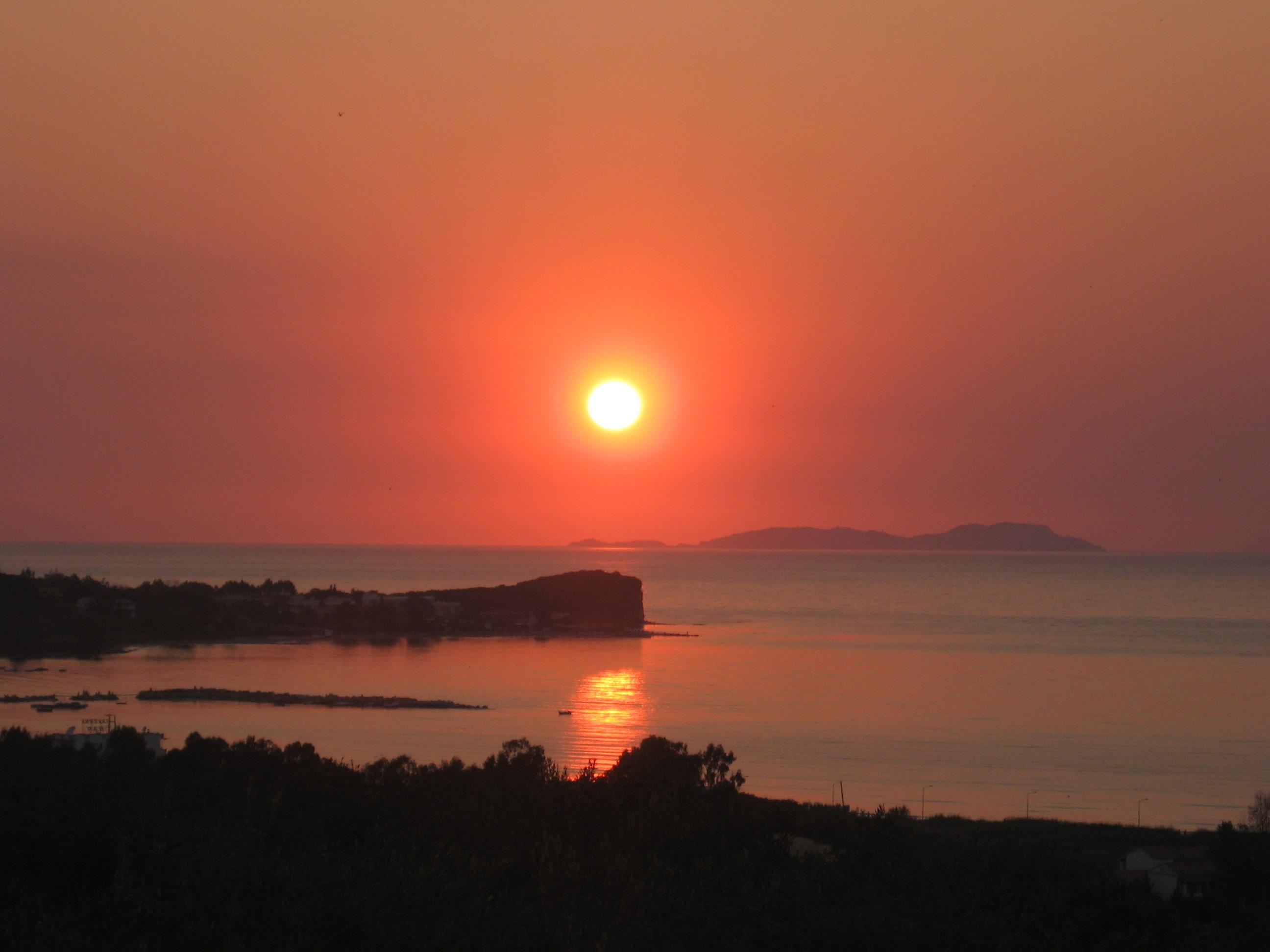 Abendstimmung - Korfu Ferienwohnung Flora, Acharavi, Korfu, Griechenland, KorfuCorfu.de