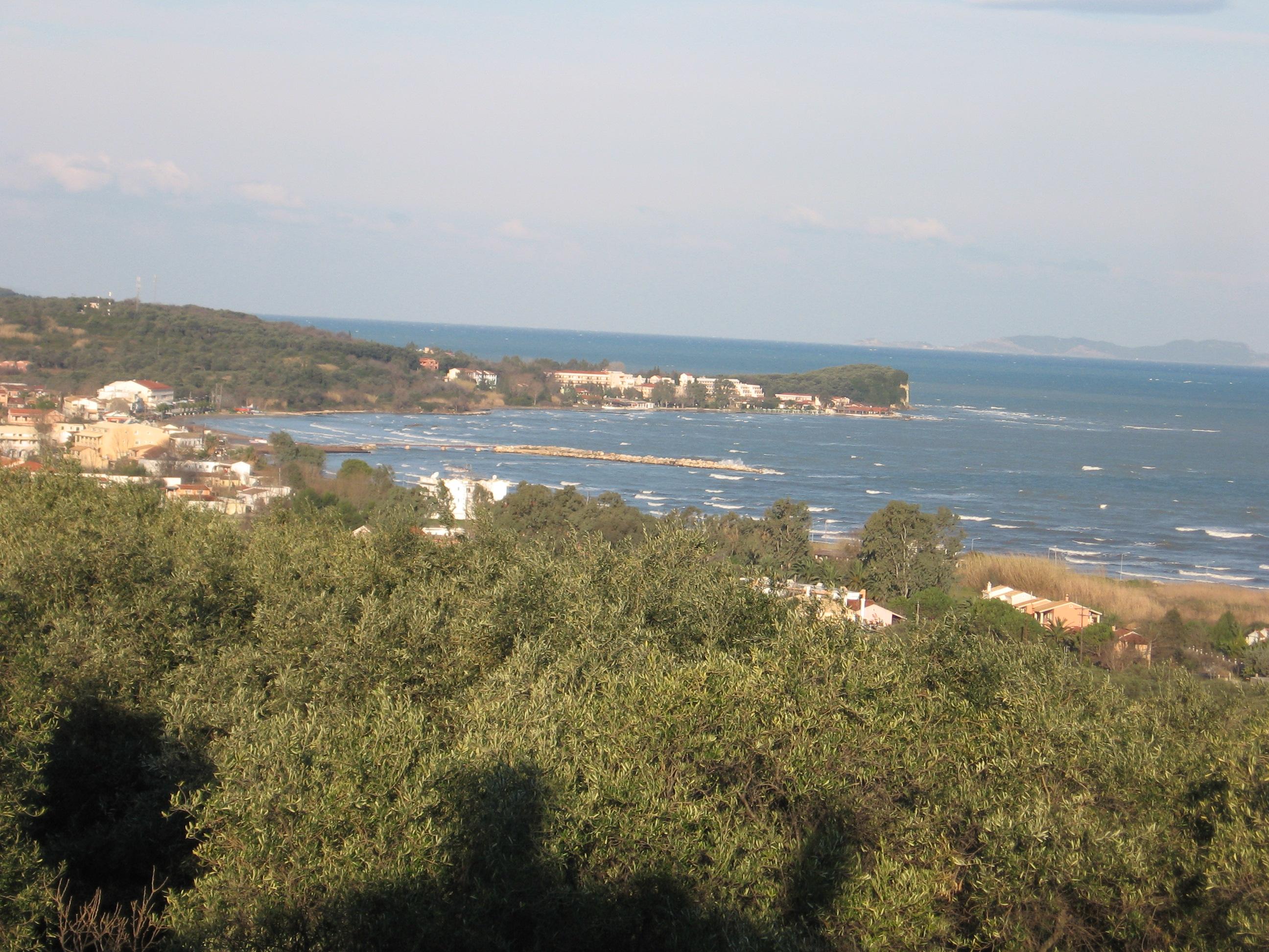 Blick nach Westen - Korfu Ferienwohnung Flora, Acharavi, Korfu, Griechenland, KorfuCorfu.de