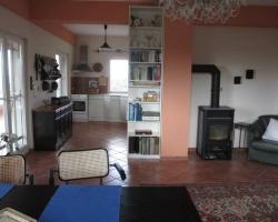 Wohnzimmer Küche - Korfu Ferienwohnung Flora, Acharavi, Korfu, Griechenland, KorfuCorfu.de