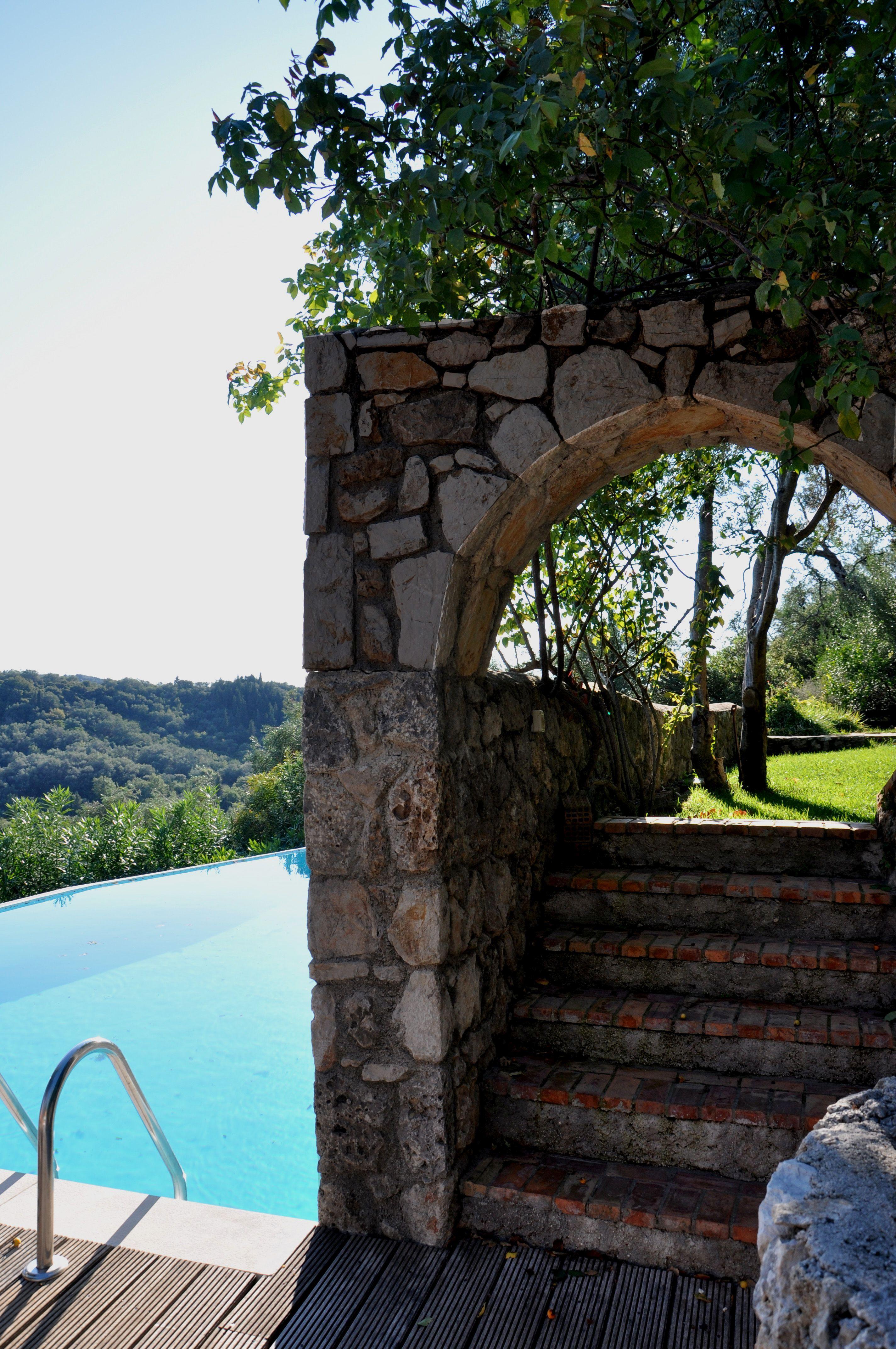 Pool - Korfu Luxusvilla Villa Melolia, Agios Markos, KorfuCorfu.de