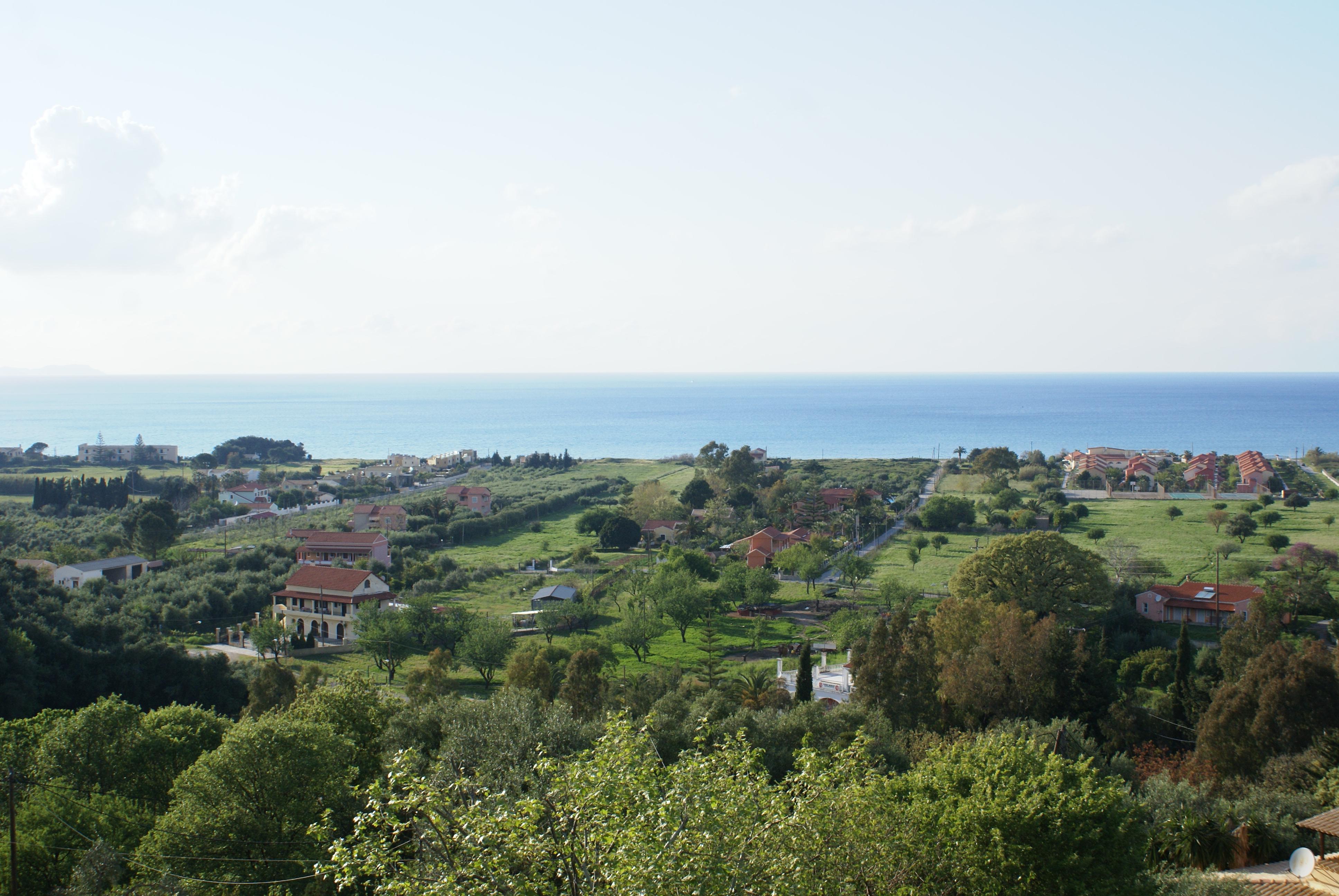 Blick auf das Meer - Korfu Villa Mare e Monti, Almiros, KorfuCorfu.de
