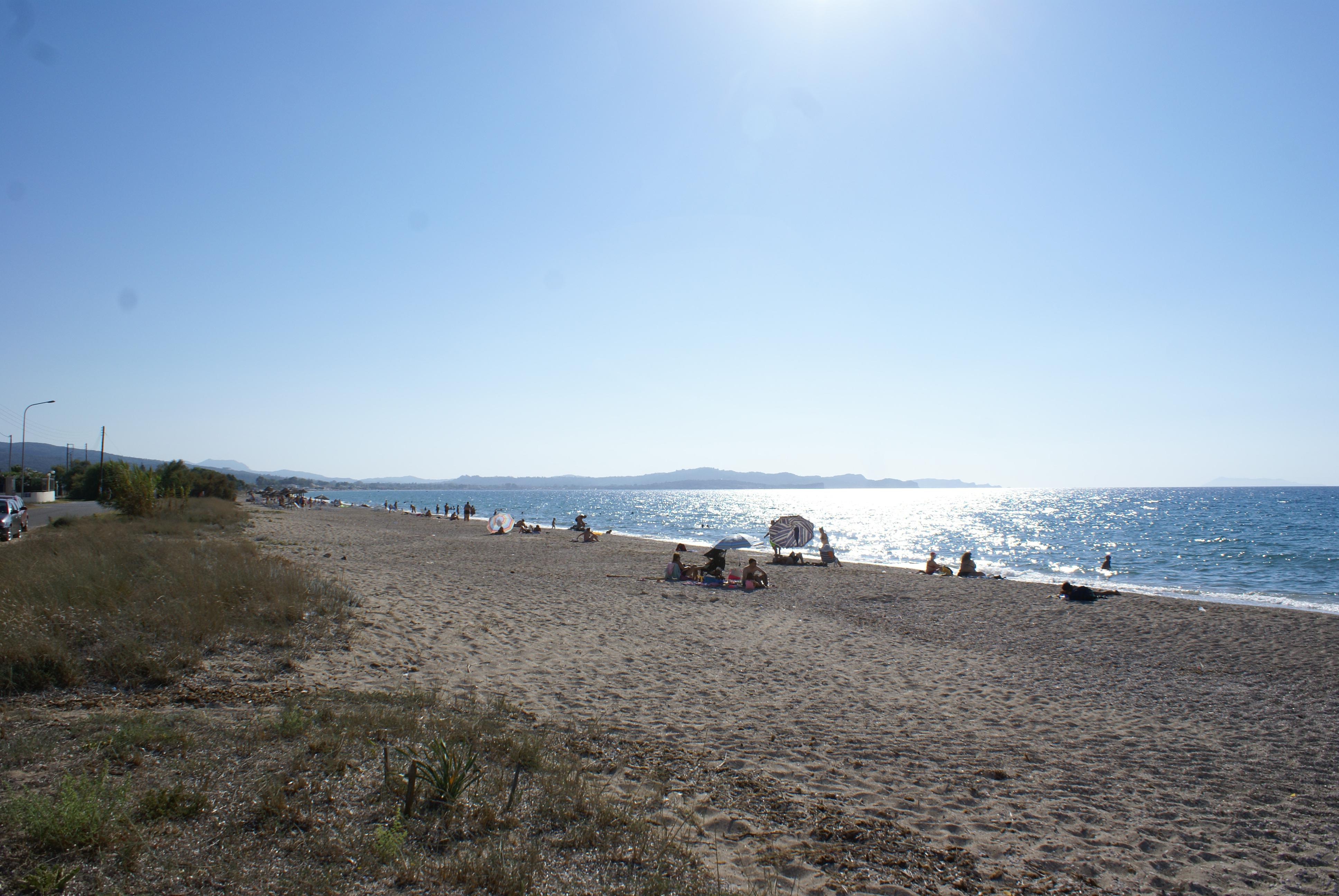 Strand von Almiros - in der Nähe der Korfu Villa Mare e Monti, Almiros, KorfuCorfu.de