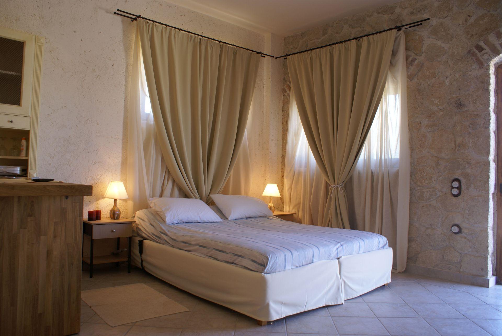 Schlafzimmer Studio - Korfu Luxusvilla Maria, Chalikounas, Korfu