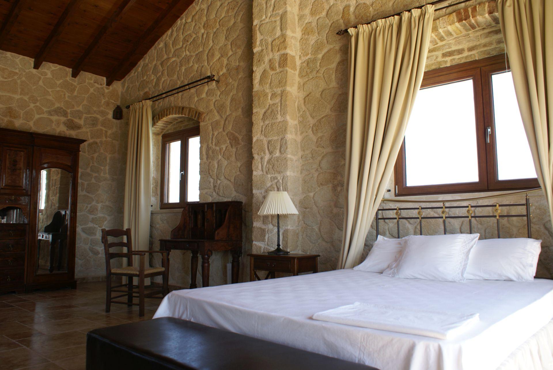 Schlafzimmer oben - Korfu Luxusvilla Maria, Chalikounas, Korfu