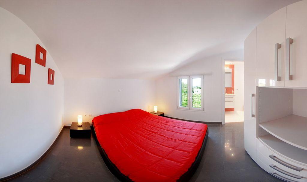 Schlafzimmer Dachgeschoss - Korfu Villen Gerassimos, Chalikounas, Korfu, KorfuCorfu.de