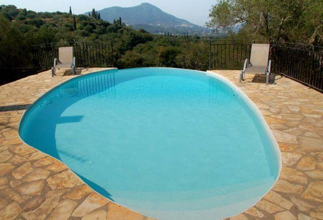 Pool - Korfu Ferienhaus Villa Aphrodite, Agios Ioannis, Korfu