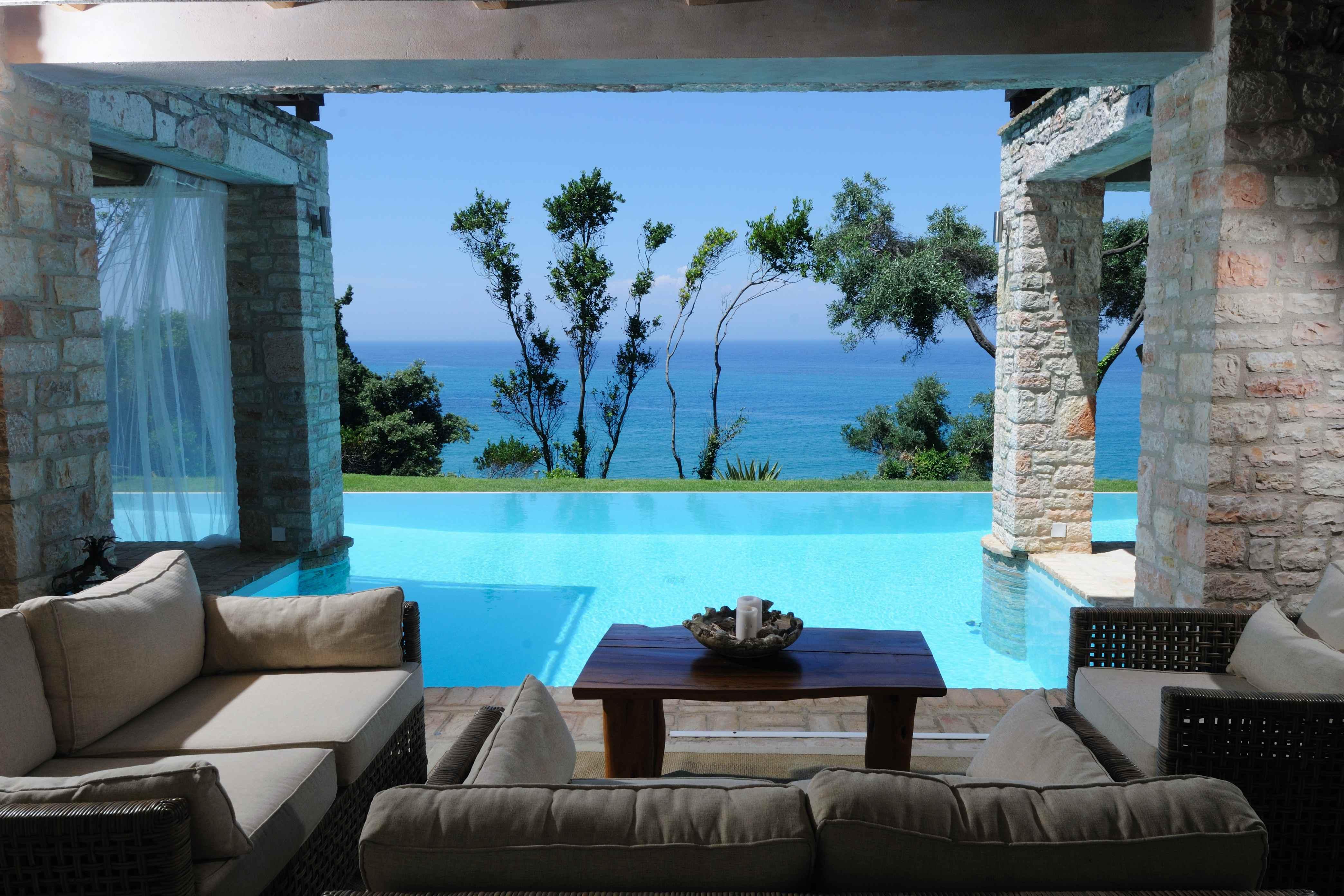 Ausblick - Korfu Villa Steilküste, Agios Spiridon, Korfu, Griechenland