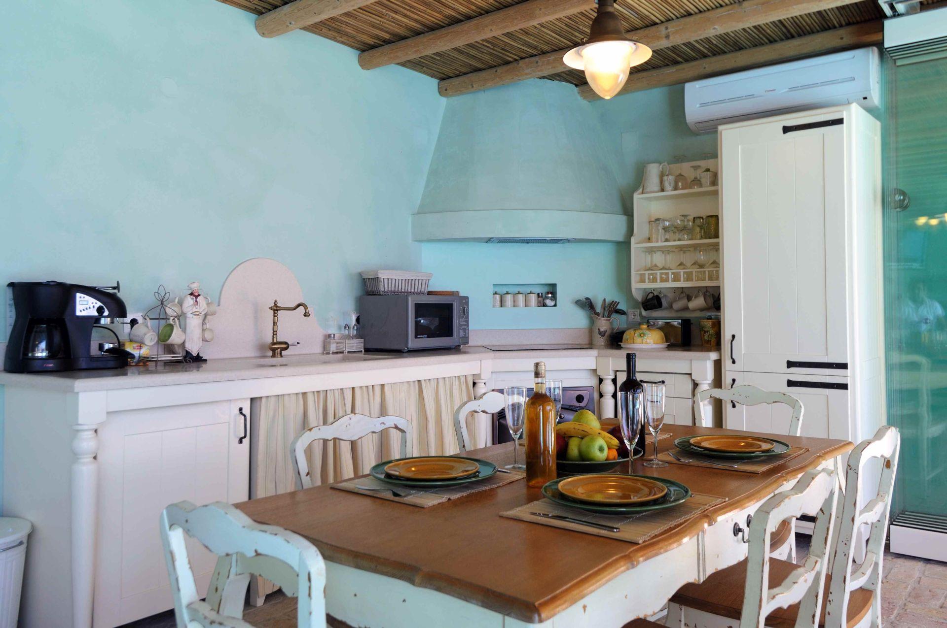 Küche - Korfu Villa Steilküste, Agios Spiridon, Korfu, Griechenland