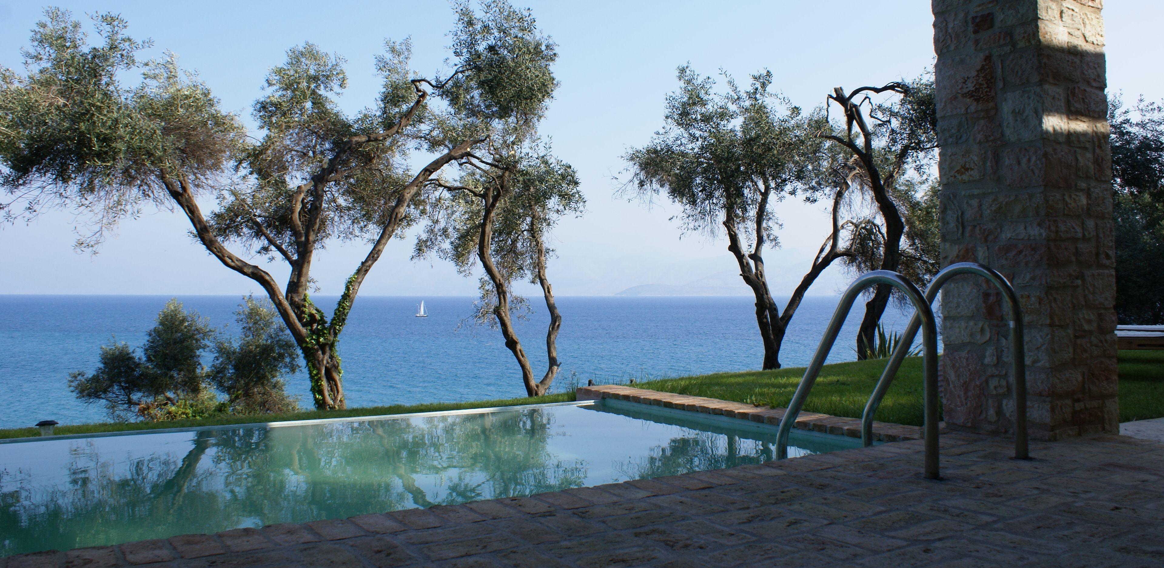 Meerblick - Korfu Villa Steilküste, Agios Spiridon, Korfu, Griechenland