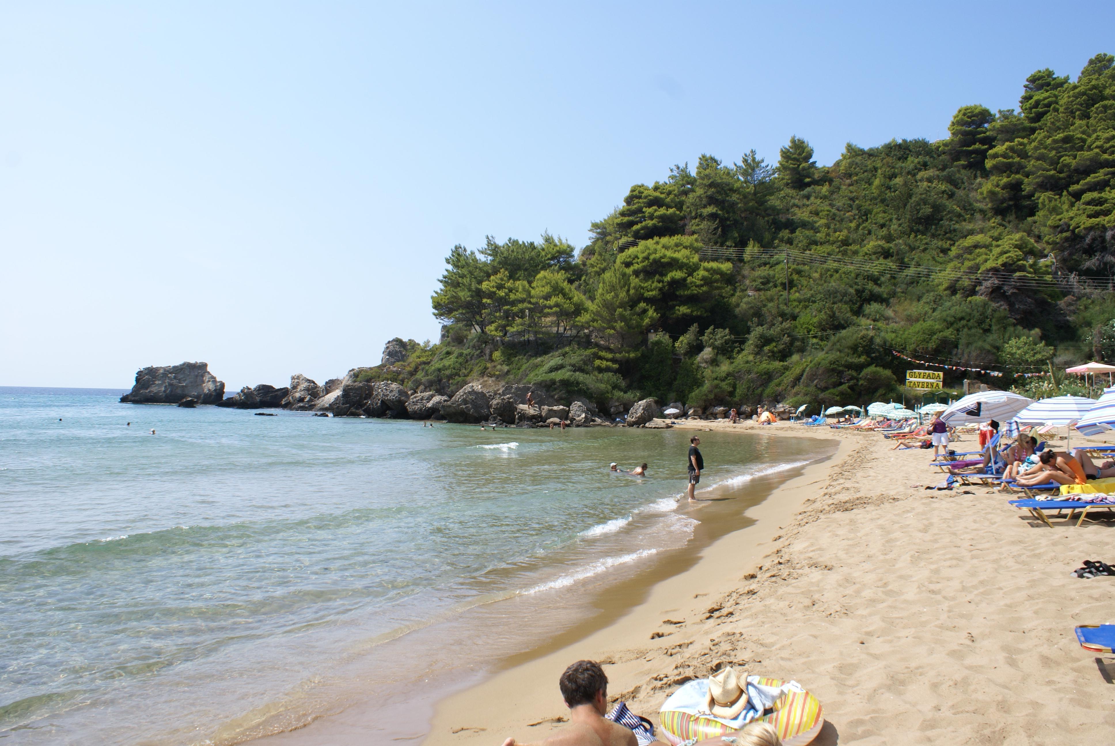 Strand von Glyfada, Korfu, Griechenland