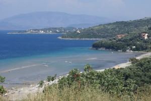 Strand von Kalamaki, Korfu Ferienhaus Villa Marco, Acharavi, KorfuCorfu.de
