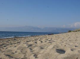 Strand von Almiros, Almiros, Korfu, Griechenland, in der Nähe der Korfu Ferienwohnungen Villa Amalia, Acharavi, KorfuCorfu.de