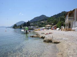 Strand von Perama, Korfu Ferienwohnungen Bandos Appartements, Korfu, Griechenland