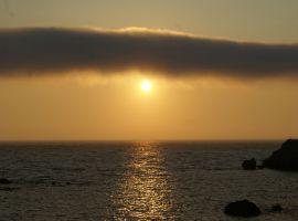 Sonnenuntergang über dem Strand von Prassoudi - Agios Matheos, Korfu, Griechenland Korfu Traumvilla Villa Seepferdchen, Chalikounas, Korfu, Griechenland, KorfuCorfu.de