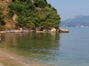 Strand auf der Insel Vidos, Korfu, Griechenland in der Nähe der Korfu Ferienwohnung Korfu Stadt - Maisonette, Korfu Stadt, KorfuCorfu.de