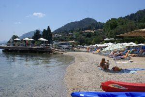 Strand von Perama, Korfu Luxusvilla Villa Chloe, Souleika - südlich von Korfu Stadt, Korfu, Griechenland, KorfuCorfu.de